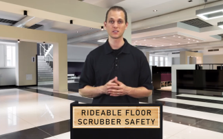 RIDEABLE FLOOR SCRUBBER SAFETY