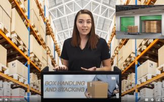 BOX HANDLING AND STACKING