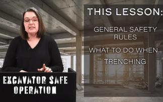 EXCAVATOR SAFE OPERATION