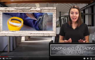 LOADING AND UNLOADING STONE SLABS